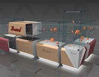 The modular design of showcases