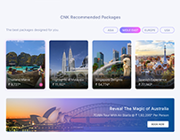 Travel website Design Concept for Cox and Kings