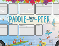 Paddle Round the Pier Bus Illustration