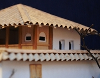 Model of traditional Serbian house