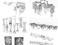 Various 3D props