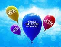 20+ Ultra-Realistic Balloon Mockups for Logo Presentati