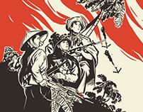 Illustration 1 scene for Vietnam War