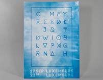 Typografisk musikfestival i Luxemburg