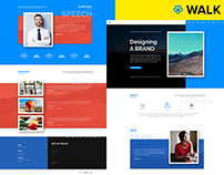 WALK – One Page Landing PSD Template