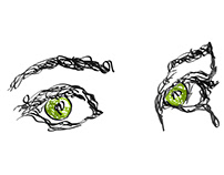Collection of Tkharbich Scribble illustration I Eyes