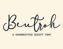 Beutroh | Handwritten Font