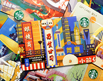 Temperature of a City | Illustrations for Starbucks