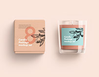 Free sample Candle Package Mockup