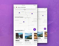 Mobile UI // Map Based News