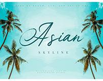 Asian Skyline – Casual Summer Font