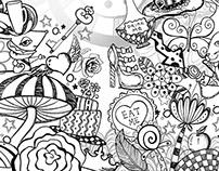 Wonderlandiful Doodle Book