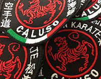 Karate School Original Embroidered Bagde