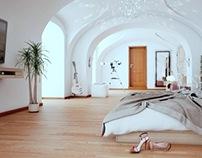 Interior visualization of the apartment / Slovakia /