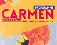 Carmen : livret d'opéra, flyer, affiche