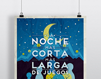 Cartel La Noche Más Corta Más Larga de Juegos 2013