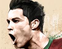 Cristiano Ronaldo digital ilustration