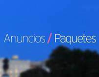 Anuncios / Paquetes