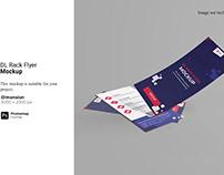 DL Rack Flyer Mockup