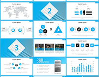 BLUE BUSINESS REPORT POWERPOINT