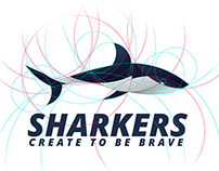Sharkers - Shark golden ratio logo