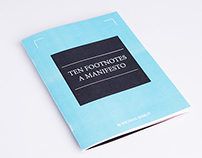 "Brochura - ""Ten Footnotes to a Manifesto"""