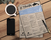 El Tiburon, Menu Design
