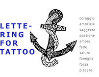LTTERING / for tattoo