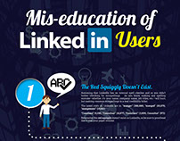 Mis-education of LinkedIn Users