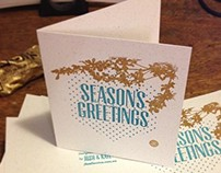 Gocco Screenprinted Christmas Cards