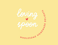 Loving Spoon – vegan catering brand identity
