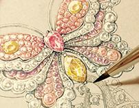 Van Cleef & Arpels style Butterfly Bracelet