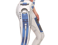 R2D2 Inspired Leggings and Croptop.