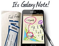 Samsung Galaxy Note Email Campaign