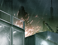 The Sci fi Shipyard // Personal Matte Painting