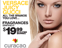 Curacao fragrance web banners