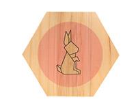 Quadrinhos Origami - Meu Móvel de Madeira