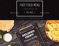 Fast Food Menu Mock-up Pack Vol.1