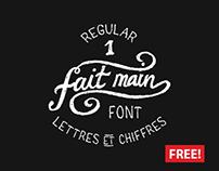 The FREE Fait Main Font