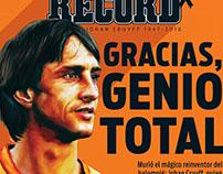 Johan Cruyff Illustrations for RECORD Sports Newspaper