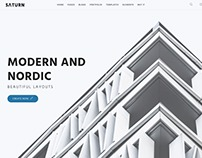Saturn - Modern and Nordic WordPress Theme