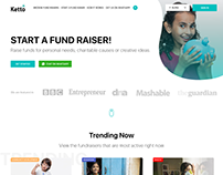 Crowdfunding Website Design Concept