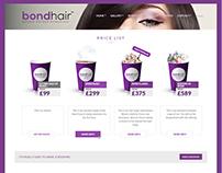 Bondhair web page