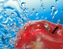 drops & apple 3D