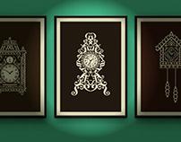 Calligram clocks