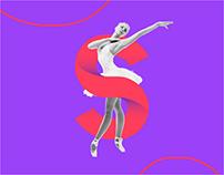 StudioS Escola de Ballet - Logotipo e Identidade Visual