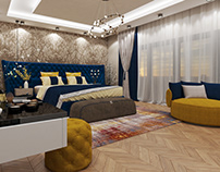 Master bed room + Dressing room