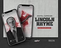 AXN: Lincoln Rhyme Digital Campaing