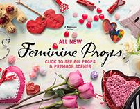 """Feminine Props & A2 Card Set"" Mock Ups + Freebie"