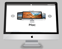 Apple Landing Page Mockup